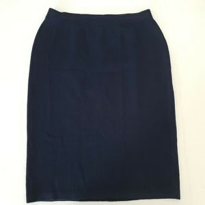 St John Collection Santana Knit Straight Skirt